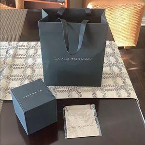 David Yurman gift box, gift bag and pouch